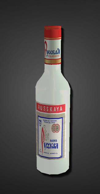 Бутылка водки вместо гранаты