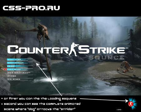 Фон меню hl2 для Counter-Strike Source