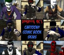 Cartoony Comic Book Skins